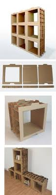 cardboard furniture diy. estanteras con piezas de cartn cardboard recyclingdiy cardboardcardboard furniturecardboard furniture diy
