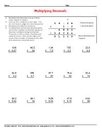 Decimal Multiplication Worksheets Free - WorksheetsNew Learning Content Is Added Regularly Stop Back Often. Worksheetsdirect Com. Estimating Multiplication W Decimals Worksheet