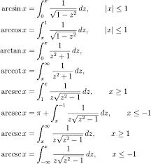 Antierivatives And Inverse Trigonometric Functions