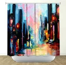 artistic shower curtains. Simple Shower Artistic Shower Curtain Funky Curtains Unique  Throughout E