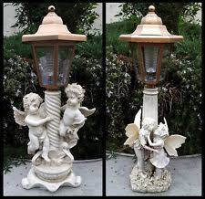 outdoor garden statues. 2 Outdoor Garden Decor Solar Fairy Angel/Cherub Statue Sculpture LED Lights Statues T