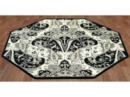 octagon rug 8 st structure black paisley octagon area rug 8x8 octagon rugs