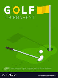 Golf Tournament Flyer Template Golf Tournament Promo Poster Flat Template