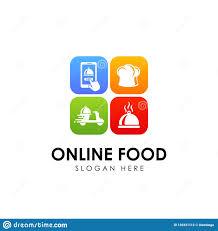 Free Logo Design Online Online Food Order Delivery Service Logo Design Stock Vector