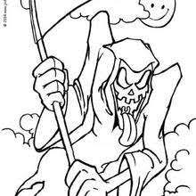 Small Picture Grim reaper coloring pages Hellokidscom