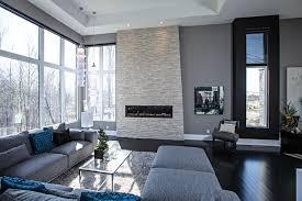 Contemporary living room in grey tones contemporary-living-room