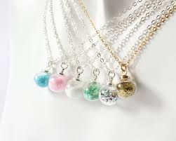 mini glass globe with glitter necklace images of