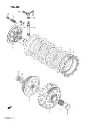 1986 suzuki quadracer (lt250r) oem parts, babbitts suzuki partshouse Lt250r Wiring Diagram clutch (model h j k l m n) 86 lt250r wiring diagram
