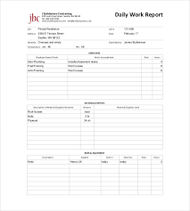 Daily Report Format In Word Magdalene Project Org