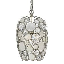 1 light antique silver coastal mini chandelier dd in natural white capiz shell hand cut