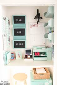 Organizing ideas for home office Ikea Command Central Station Creating Command Center In Closet At The Happy Housie1 The Happy Housie Get Organized In Small Space With Cloffice office Closet The