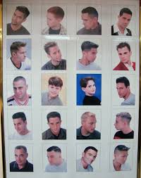 Barber Haircut Chart Barbershop Posters Hairstyles Ideas
