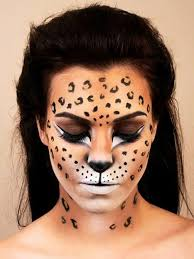 pin drawn leopard skin face painting 5