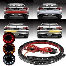 Tailgate Brake Light 48 Inch Dc9 24v Three Color Led Strip Light Car Tailgate Pickup Turn Signal Reverse Brake Lamp
