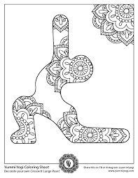 Get crafts, coloring pages, lessons, and more! Free Printable Yoga Coloring Page Yummi Yogi