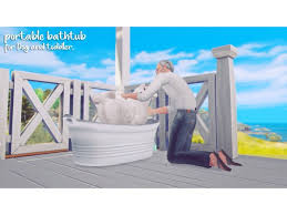the sims 4 portable bathtub for dog and toddler