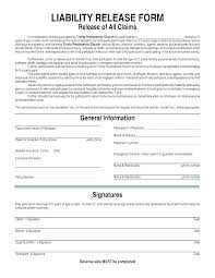 Basic Liability Waiver Form Impressive Medical Records Release Form Template Free Photo Release Form