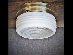flush mount ceiling light vintage 1950s