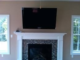 how to hide tv wires over brick fireplace pictures of stone fireplaces with tv above