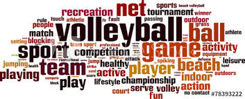 Volleyball Word Volleyball Word Cloud Concept Vector Illustration Buy