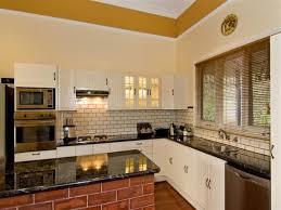 Brick Backsplash Tile kitchen nice looking kitchen idea using white l shaped kitchen 3212 by guidejewelry.us