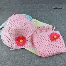 Set mũ chống nắng và túi xách rơm thời trang đi biển mùa hè cho bé gái tại  Nước ngoài
