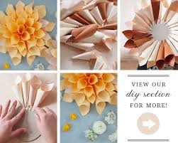 Dahlia Flower Making With Paper Diy Paper Flowers Diy Wedding Decor 100 Layer Cake