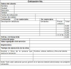 Formato Para Cotizacion De Servicios Organice Sus Cotizaciones A La Obra Maestros