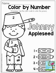 Small Picture Johnny Appleseed Color By Number Coloring Pages Coloring Home