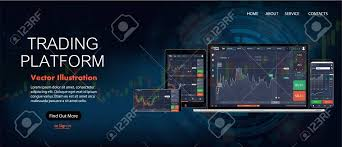 Forex Chart App Web Site Screen Template Forex Market News And Analysis Binary