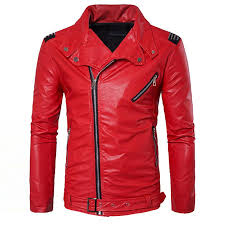 2019 whole manvelous men faux leather jacket fashion casual long sleeve lapel solid thick men coat black red color slim suede men clothing from bida