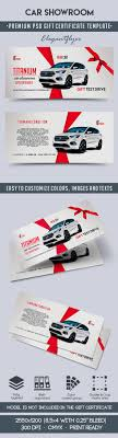 car showroom premium gift certificate psd template