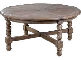 uttermost samuelle 42 round wooden coffee table