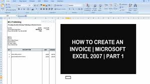How To Make Invoice In Excel 2007 Apcc2017