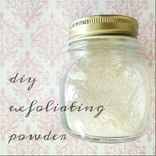 natural beauty diy exfoliating powder