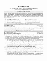 Investment Banking Resume Template Fresh Investment Banking Resume