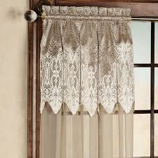 Lace Sheers Easy Style Valerie Sheer Panels With Attached Valances
