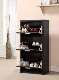 shoe storage furniture for entryway. black color modern closed shoe rack cabinet with 3 drawer storage for entryway house design ideas furniture
