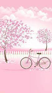 Cute Pink And White Background