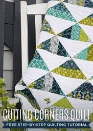 473 best Quilting Tutorials images on Pinterest | Cutting tables ... & Make a Cutting Corners Quilt with Jenny Doan in her Free Video Tutorial! Adamdwight.com