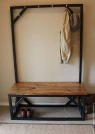 School Coat Rack Coat Rack Going Old School Reclaimed Hall Bench And Coat Rack At 46