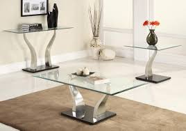 contemporary glass top coffee tables