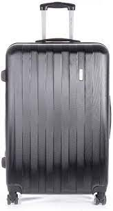 It wasn't fully filled and the thread came apart and there is a huge hole exposing my personal belongings. Bugatti Hlg492015 Black 3 Piece Hard Case Luggage Black Checked Extra Large Amazon Ca Luggage Bags