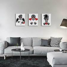 canvas wall art sugar skull framed day