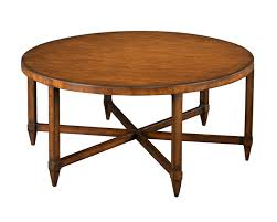 old round cocktail table wth 6 legs made from reclaimed wood for