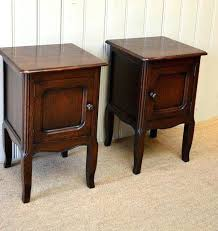 sidetables small oak bedside table pair of cabinets c french from effect