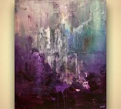 large purple abstract art contemporary
