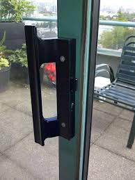 repair sliding glass door latch designs