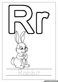 Letter R Coloring Pages For Robot Kids Free Printable Toddlers