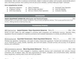 Heavy Equipment Operator Resume Job Description Sample Samples